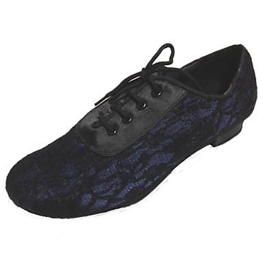 Kadın's Latin Dans Ayakkabıları Dantel / Saten Topuklular Kalın Topuk Kişiselleştirilmiş Dans Ayakkabıları Çok Renkli / İç Mekan