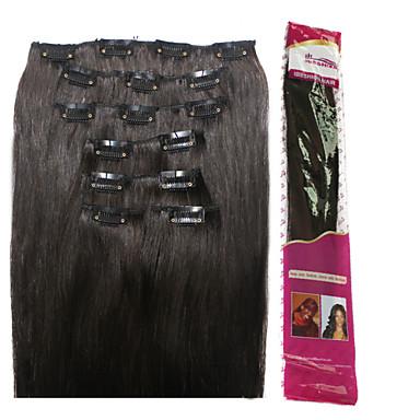 ibeshion teljes végén 100% haj klip haj kiterjesztések 110 gramm 7 db 16 klipek # 1b fekete # 2 # 4 # 6 barna