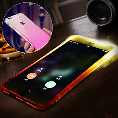 Case For Apple iPhone X iPhone 8 iPhone 8 Plus iPhone 6 iPhone 6 Plus Water Resistant LED Flash Lighting Back Cover Color Gradient Soft