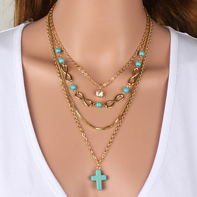 Women's Turquoise Necklace - Cubic Zirconia White, Blue Necklace For Wedding, Party, Special Occasion / Anniversary / Engagement / Gift / Daily