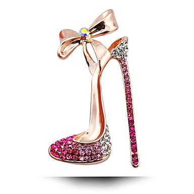 kore güney düğün elmas broş, yüksek topuklu ayakkabılar yay