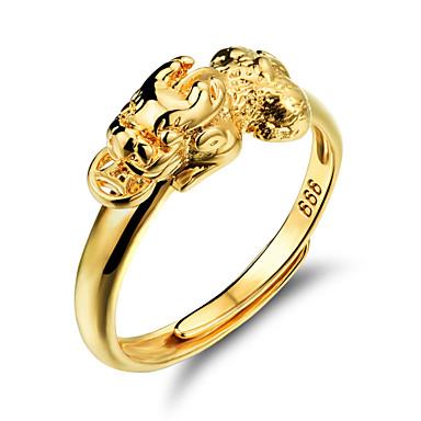 Gyűrűk Esküvő / Parti / Napi / Hétköznapi / Sport Ékszerek Arannyal bevont Női Karikagyűrűk 1db,Állítható Aranyozott