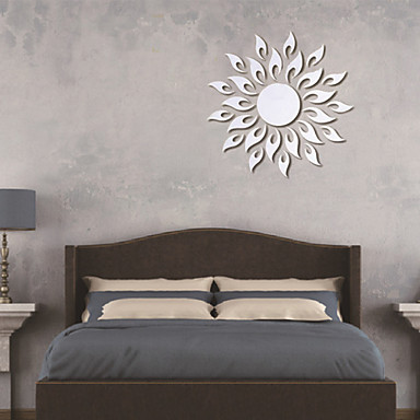 Shapes 3D Wall Stickers Mirror Wall Stickers Decorative Wall Stickers, Vinyl Home Decoration Wall Decal Wall