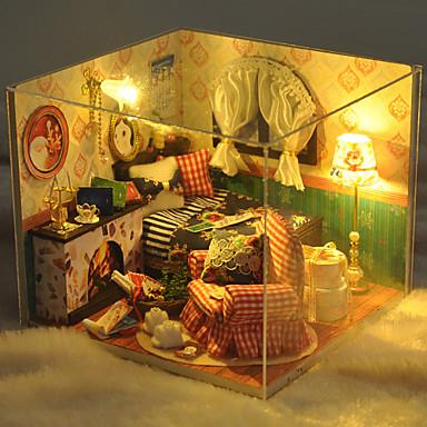led tüm mobilya ışıkları lamba dahil yılbaşı romantik hediye oyuncak manuel modeli diy ahşap dollhouse