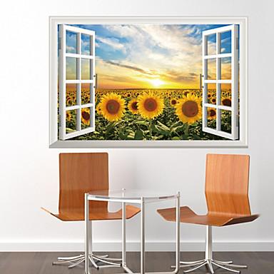 Dekoratif Duvar Çıkartmaları - 3D Duvar Çıkartması Tatil Oturma Odası / Yatakodası / Çalışma Odası / Ofis / Çıkarılabilir