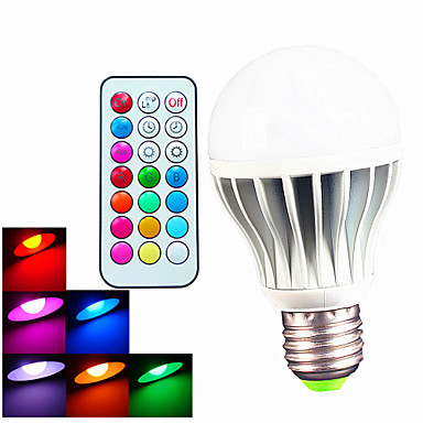 B22 E26/E27 LED Globe Bulbs A60(A19) 3pcs High Power LED 550LM lm RGB 6500K K Dimmable Remote-Controlled Decorative AC 100-240 V
