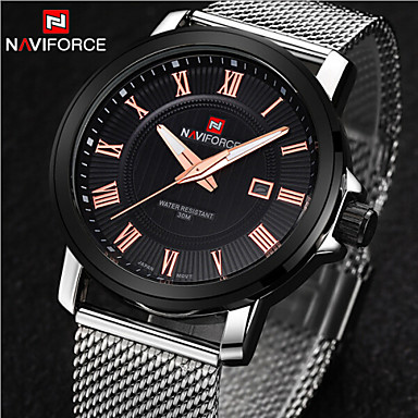 Men's Wrist watch Quartz Calendar / date / day Stainless Steel Band Charm Silver