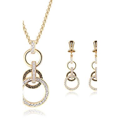 女性用 クリスタル ジュエリーセット - イミテーションダイヤモンド ぜいたく 含める ゴールド 用途 結婚式 / パーティー / 日常