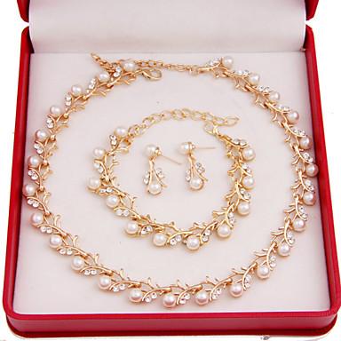 Mulheres Outros Conjunto de jóias Brincos / Colares / Braceletes - Regular Para Casamento / Festa / Ocasião Especial
