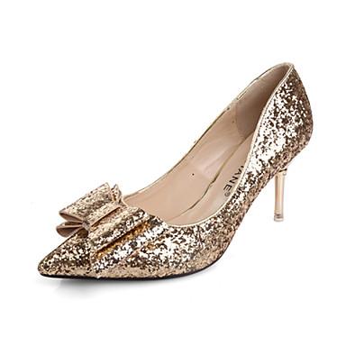 Magassarkú / Hegyes orrú - Cicasarok - Női cipő - Magassarkú - Ruha - Szintetikus / Glitter - Piros / Ezüst / Arany