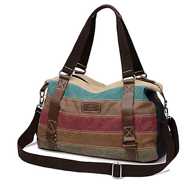 Women Bags Canvas Tote for Casual Outdoor Fall All Seasons Brown