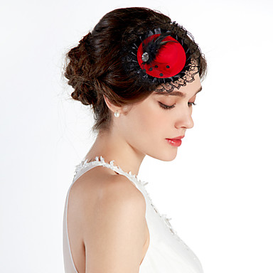 Dantel alaşım Çiçek  -  Şapkalar Başlık 1pc Düğün Özel Anlar Günlük Ofis ve Kariyer Dış mekan Başlık