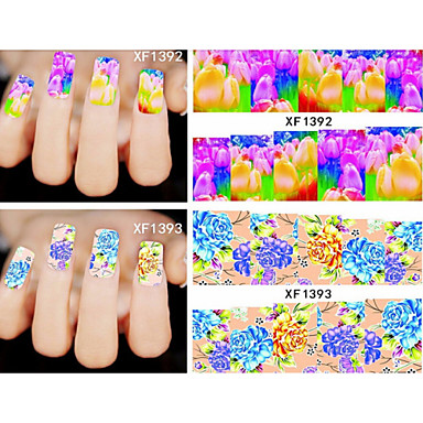 20 Nail Jewelry 3D Nail Stickers Flower Fashion Daily High Quality