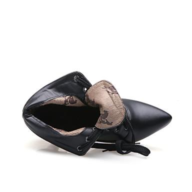 Basique Botte Chaussures Bottine Noir 16 Escarpin Hiver Aiguille cm 5 08 10 Femme Synthétique Demi 04676240 Talon fxgx1
