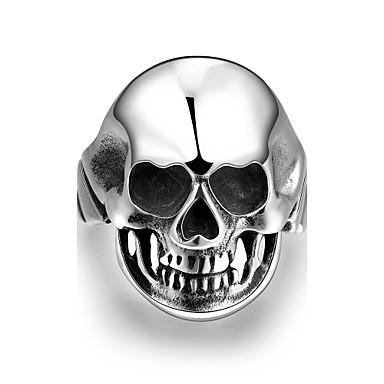指輪 ステンレス鋼 スカル シルバー ジュエリー Halloween 日常 カジュアル スポーツ 1個
