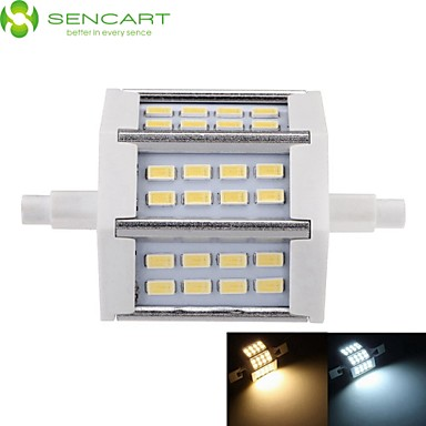 SENCART 5W 450-500lm R7S LED Floodlight Recessed Retrofit 24 LED Beads SMD 5730 Dimmable Warm White / Cold White 85-265V / 1 pc