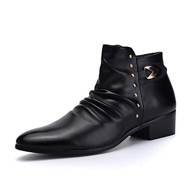 Alkalmi Férfi cipő Bőrutánzat Csizmák Fekete
