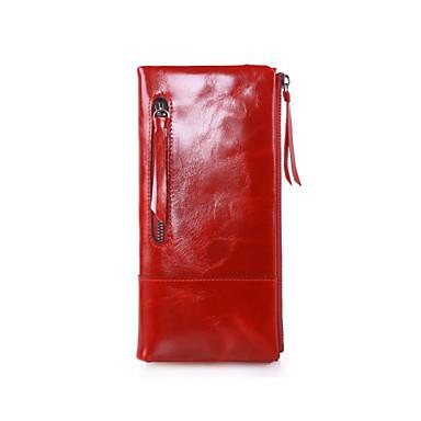 1a054928fc Γιούνισεξ Τσάντες Δερμάτινο Πορτοφόλια   Δίπτυχο Μονόχρωμο Καφέ   Κόκκινο    Βαθυγάλαζο