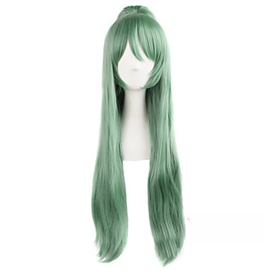Synthetic Hair Wigs Wavy Capless Green