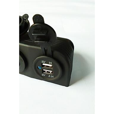 lossmann dobbel usb billader strømadapteren og stikkontakten