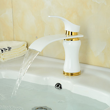 American Standard Centerset Single Handle One Hole in Painting Bathroom Sink Faucet