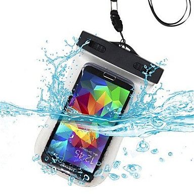 Case For Universal Waterproof with Windows Pouch Bag Solid Color Soft PC for S6 edge S6