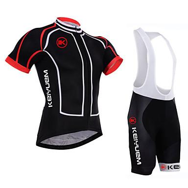KEIYUEM Camisa com Bermuda Bretelle Unisexo Manga Curta Moto Camisa/Roupas Para Esporte Shorts Acolchoados Tights Bib Conjuntos de Roupas