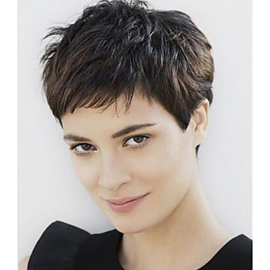 Synthetic Hair Wigs Wavy Pixie Cut With Bangs Carnival Wig Halloween Wig Short Black