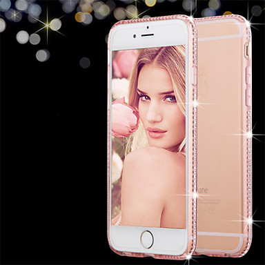 Case For Apple iPhone 8 iPhone 8 Plus iPhone 6 iPhone 6 Plus Rhinestone Transparent Back Cover Solid Color Soft TPU for iPhone 8 Plus