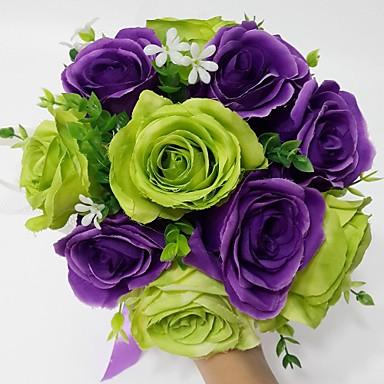 Esküvői virágok Kör Rózsák Csokrok Esküvő Parti /Estélyi Szatén 9,84