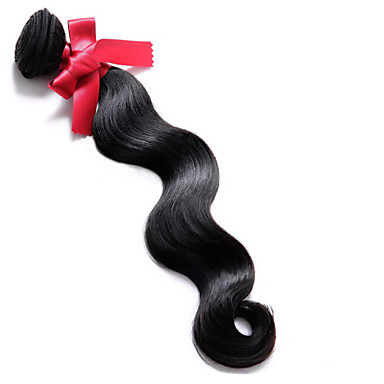 Człowieka splotów włosów Klasyczny Body wave Przedłużanie włosów 1 sztuka Włosy brazylijskie Ludzkie włosy wyplata 0.1kgCodzienny Wysoka