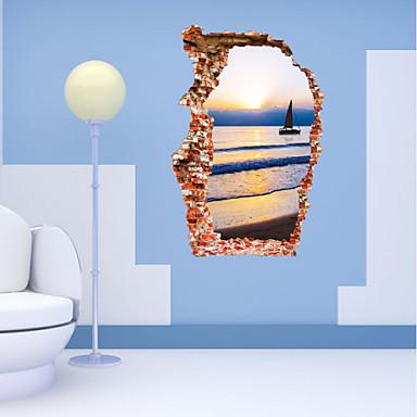 Mrtva priroda Pejzaž Zid Naljepnice 3D zidne naljepnice Dekorativne zidne naljepnice Materijal Odstranjivo Ponovno namjestitiPočetna