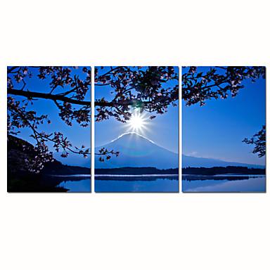 Absztrakt / Fantasy / Szabadidő / Landscape / Fényképészeti / Modern / Romantikus / Pop-művészet Vászon nyomtatás Három elem Kész lógni ,