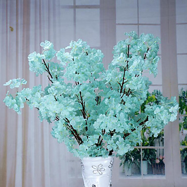 1 Branch Polyester Sakura Floor Flower Artificial Flowers