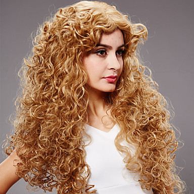 Synthetic Hair Wigs Curly Capless Carnival Wig Halloween Wig Long Blonde
