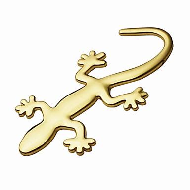 ziqiao de metal gecko puros adesivos decoração do carro personalidade etiqueta 3d