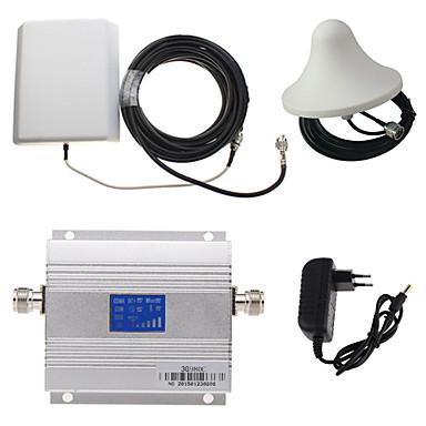 LCD kijelző 3g980 2100MHz mobiltelefon jelerősítő + panel antenna készlet