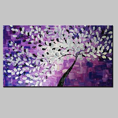 El-Boyalı Çiçek/Botanik Yatay Panoramik, Modern Tuval Hang-Boyalı Yağlıboya Resim Ev dekorasyonu Tek Panelli