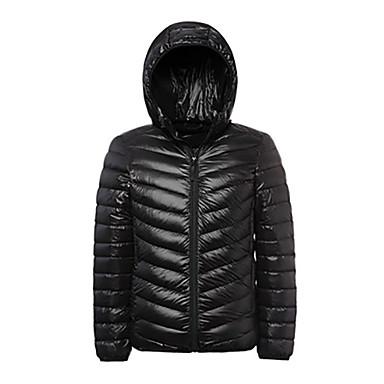 Bărbați Μπουφάν πούπουλο πεζοπορίας În aer liber Iarnă Keep Warm Material Ușor Jos Jachete Iarnă Hanorac cu Glugă Topuri Fermoar Vizibil