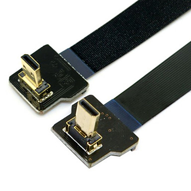 CY® Turnup Micro HDMI to Turndown Micro HDMI FPC Cable for FPV(0.1M)