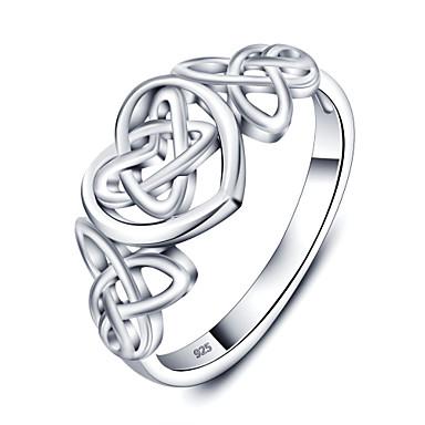 Prstenje,Sterling srebro Jewelry Plastika Prstenje sa stavom