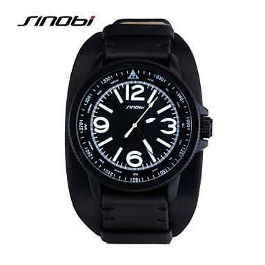 e0b8d1e9dd SINOBI Homens Relógio Esportivo Relógio de Pulso Quartzo 30 m Impermeável Relógio  Esportivo Couro Banda Analógico