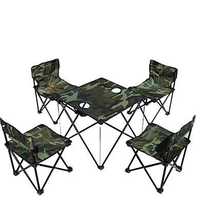 at6713 terepszínű kültéri összecsukható asztal és szék 5 alkalommal