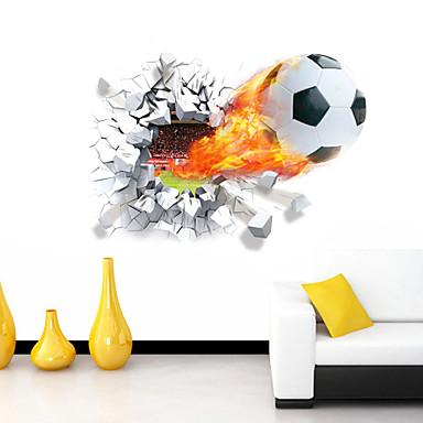 Romantizm Karton Spor 3D Duvar Etiketler 3D Duvar Çıkartması Dekoratif Duvar Çıkartmaları, Vinil Ev dekorasyonu Duvar Çıkartması Duvar