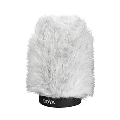 boya by-p120 peludo entrevista microfone outdoor muff pára-brisa para microfones shotgun de capacitores