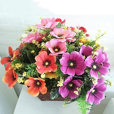 Yapay Çiçekler 1 şube Pastoral Stil Ayçiçekleri Masaüstü Çiçeği