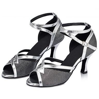 Szabványos méret - Kubai sarok - Csillogó flitter / Flitter - Latin / Dzsessz / Modern / Swing-cipők - Női