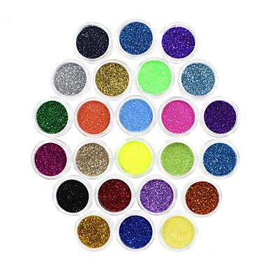 Nagellack UV Gel 8ml 24 Glitzer Langlebige Aufsaugeigenschaften Glitzer