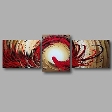 Ready to Hang Hand-Painted Oil Painting Canvas Three Panels 68
