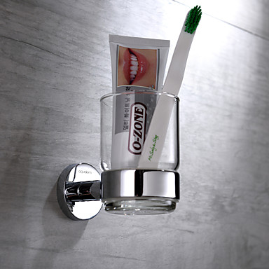 Suporte para Escova de Dentes Cromado De Parede 11*7*9.5cm Latão Contemporâneo